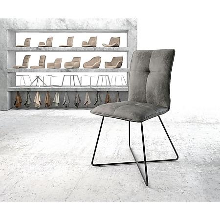 Stuhl Maddy-Flex X-Gestell schwarz Vintage Grau - Bild 1