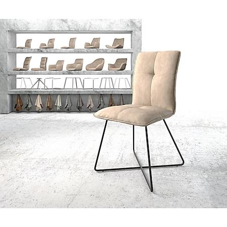 Stuhl Maddy-Flex X-Gestell schwarz Vintage Beige - Bild 1