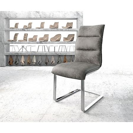 Stuhl Xantus-Flex Flachgestell verchromt Vintage Grau - Bild 1
