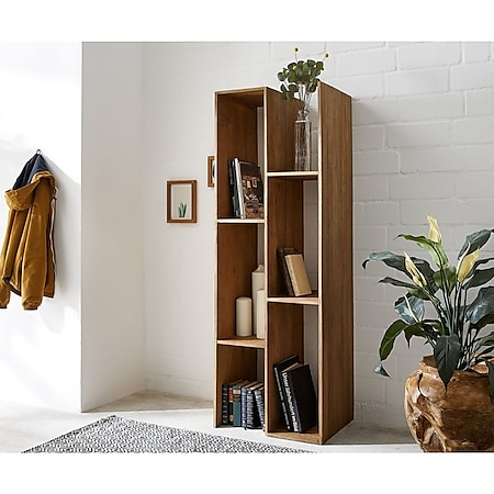 Bücherregal Melana Natur 55x160 cm Exotic Wood Standregal - Bild 1