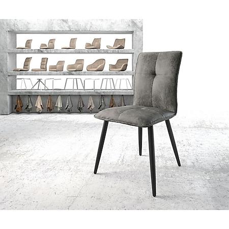 Stuhl Maddy-Flex 4-Fuß konisch Schwarz Vintage Grau - Bild 1