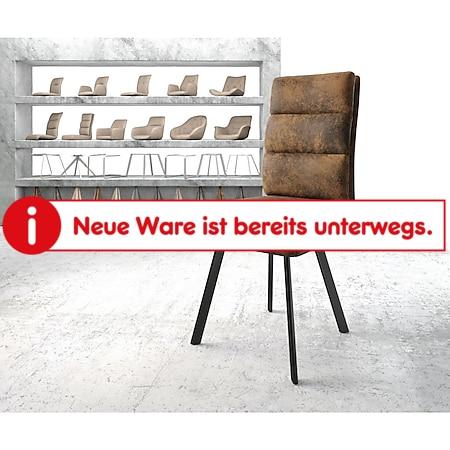 Stuhl Pela-Flex 4-Fuß oval Schwarz Vintage Braun - Bild 1