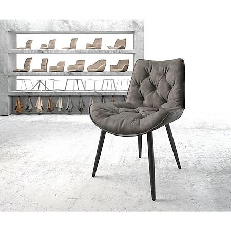 Stuhl Taimi-Flex 4-Fuß konisch Schwarz Vintage Anthrazit - Bild 1