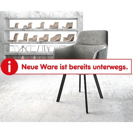 Stuhl Pejo-Flex 4-Fuß oval Schwarz Samt Grau - Bild 1