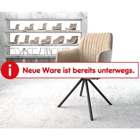 Drehstuhl Greg-Flex Kreuzgestell rund Schwarz Vintage Beige - Bild 1