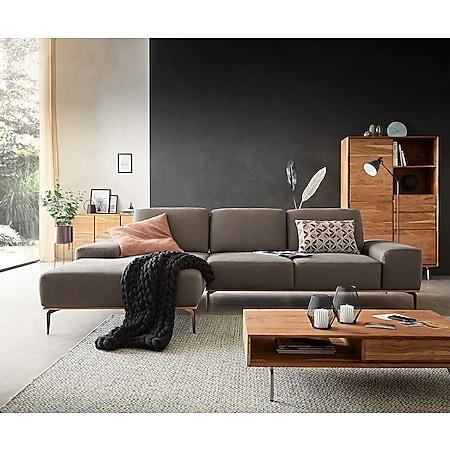 Eckcouch Run Steingrau300x180 cm Longchair links Sitztiefenverstellung by W. Schillig - Bild 1