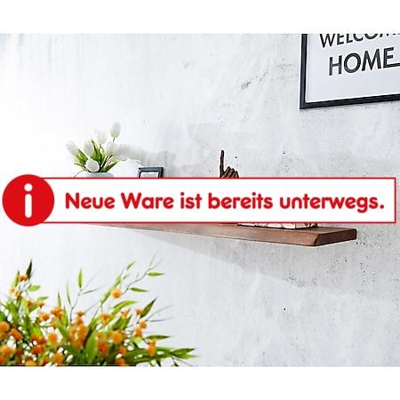 Wandboard Live-Edge Akazie Braun 145 cm Massivholz Baumkante Wandregal - Bild 1