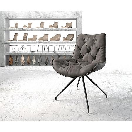 Drehstuhl Taimi-Flex Kreuzgestell konisch Schwarz Vintage Anthrazit - Bild 1