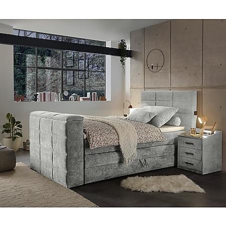 Polsterbett Dobra Schlamm 120x200 Bettkasten TV-Halterung - Bild 1