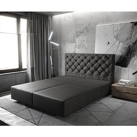 Boxspringgestell Dream-Great Lederimitat Anthrazit 160x200 - Bild 1