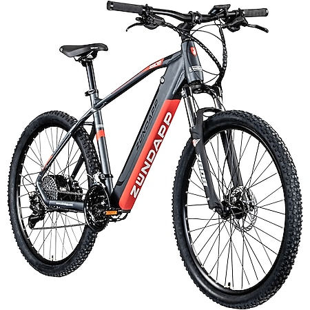 Zündapp Z808 650B E-Mountainbike E-Bike EMTB Hardtail 27,5 Zoll Pedelec Fahrrad Elektrofahrrad... 48 cm, schwarz/rot - Bild 1