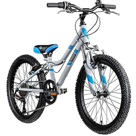 Galano GA20 20 Zoll Kinderfahrrad MTB Jugendfahrrad Mountainbike Jugend Kinder Fahrrad ab 6... grau/blau, 26 cm - Bild 1