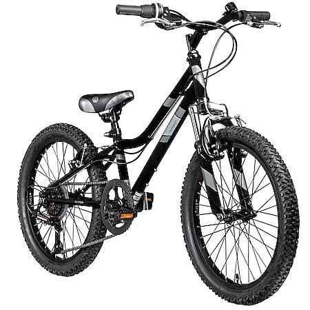 Galano GA20 20 Zoll Kinderfahrrad MTB Jugendfahrrad Mountainbike Jugend Kinder Fahrrad ab 6... schwarz/grau, 26 cm - Bild 1