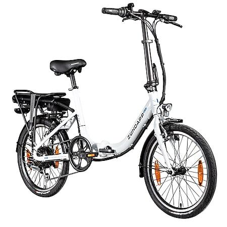 """Zündapp Z110 20 Zoll E Bike Elektro Bike Pedelec Faltrad E Klapprad E Fahrräder leichte Ebikes 20"""" Urban E Bikes Stadtrad... weiß, 33 cm - Bild 1"""