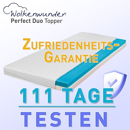 Wolkenwunder Topper Perfect DUO Wendetopper mit Spezial-Kombi-Schaum... 90x210 cm (Sondergröße) - Bild 1