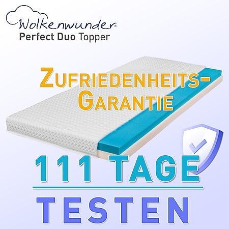 Wolkenwunder Topper Perfect DUO Wendetopper mit Spezial-Kombi-Schaum... 140x220 cm (Sondergröße) - Bild 1