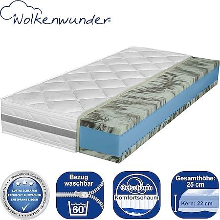 Wolkenwunder Doppel-Gel KS Gel-Komfortschaummatratze... H3, 140x210 cm (Sondergröße) - Bild 1
