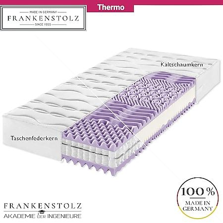 Frankenstolz Thermo Matratze perfekt für Frierer - Kaltschaum oder Taschenfederkern... H4, 120x200 cm, Taschenfedern - Bild 1