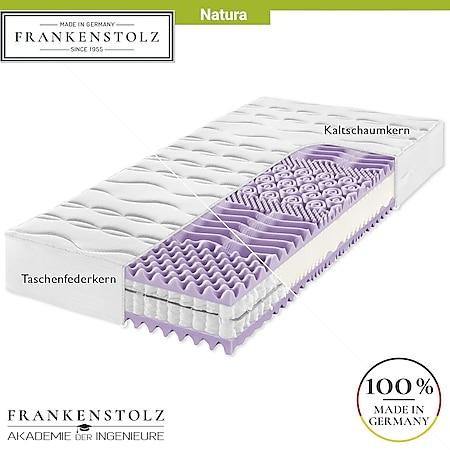 Frankenstolz Natura Matratze perfekt für umweltbewusste Schläfer - Kaltschaum oder Taschenfederkern... H3, 80x200 cm, Taschenfedern - Bild 1