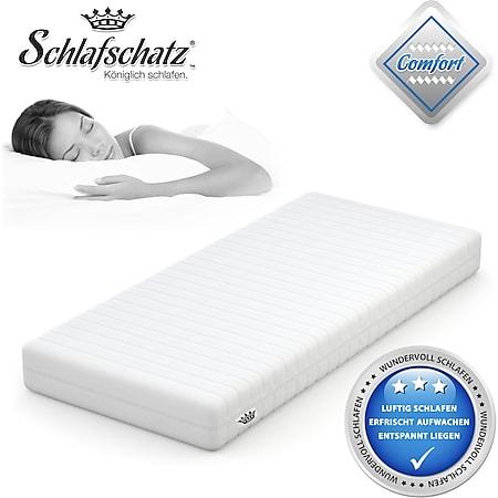 Schlafschatz Wellness Comfort 7-Zonen-Gel-Schaum-Matratze mittel... 90x200 cm - Bild 1