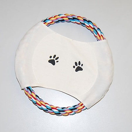 Tierspielzeug Hund Frisbee buntes Tau ca. 20 cm Durchmesser - Bild 1