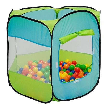 Spielzelt Kinderzelt Pop-Up-Zelt Eliot Bällebad Zelt für Drinnen und Draußen Kinderspielzelt inkl. - Bild 1