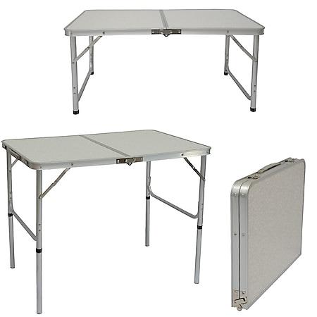 Campingtisch 90cm x60cm Klapptisch Koffertisch Falttisch Gartentisch Balkontisch - Bild 1