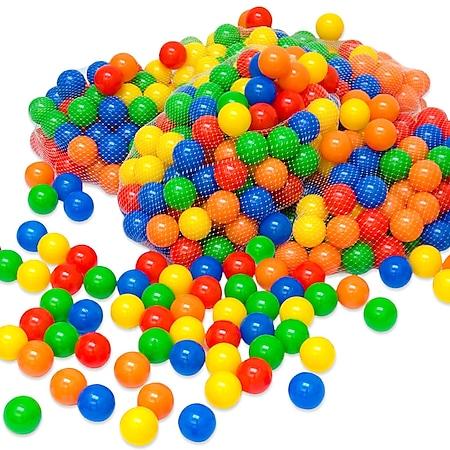 100 bunte Bälle für Bällebad 5,5cm Babybälle Plastikbälle Baby Spielbälle - Bild 1