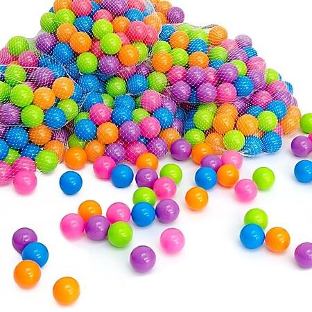 4000 bunte Bälle für Bällebad 5,5cm Babybälle Plastikbälle Baby Spielbälle Pastell - Bild 1