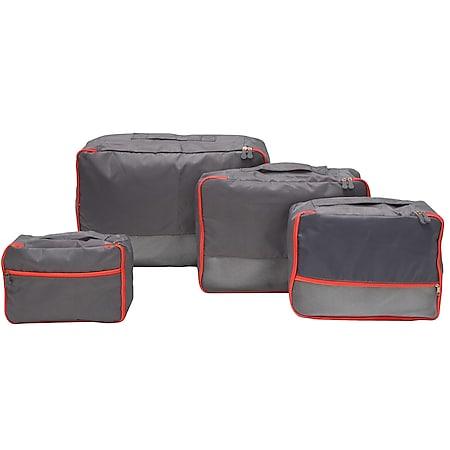 4 Kofferorganizer S-XL Reise Packtaschen Set Rucksack Packwürfel Koffer Taschen - Bild 1