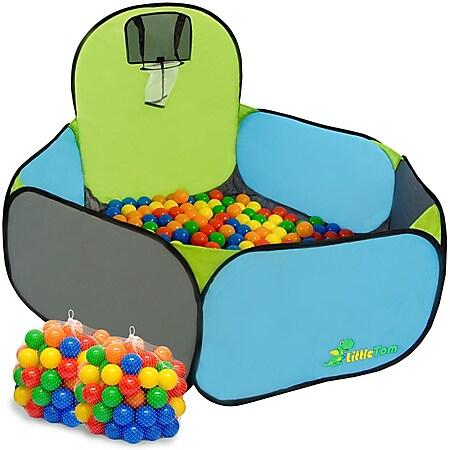 Bällebad mit Rutsche für Kinder ab 1 Jahr - Kinderrutsche mit Pool - 200 Bälle - Bild 1
