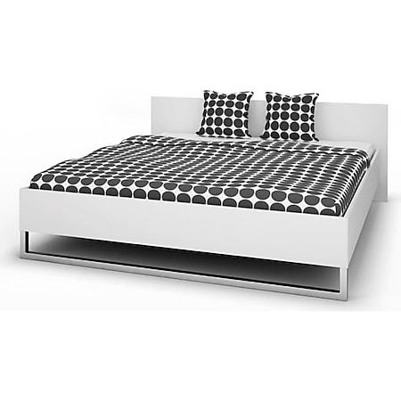 Doppelbett STINA Bettgestell Ehebett Bett Schlafzimmer 180x200 weiß - Bild 1