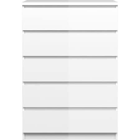 Nada Kommode 5 Schubladen weiss Sideboard Highboard Schrank Flur Diele - Bild 1