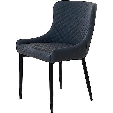 2x Esszimmerstuhl Otis grau Essstuhl Küchenstuhl Küche Polster Stuhl Stühle - Bild 1
