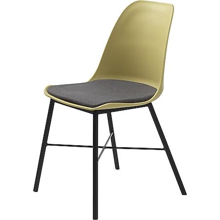 2x Esszimmerstuhl gelb grau Essstuhl Lehnstuhl Stuhl Set Stühle Küchenstuhl - Bild 1