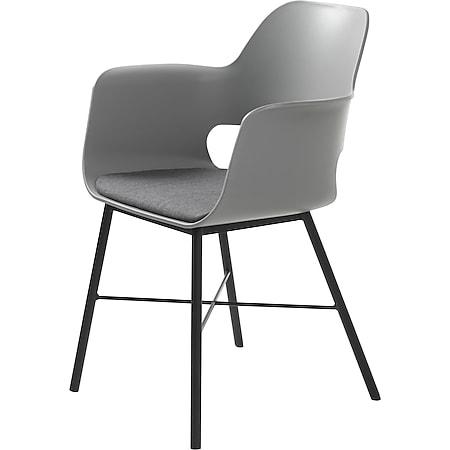 Esszimmerstuhl grau Essstuhl Lehnstuhl Küche Stuhl Set Stühle Küchenstuhl - Bild 1