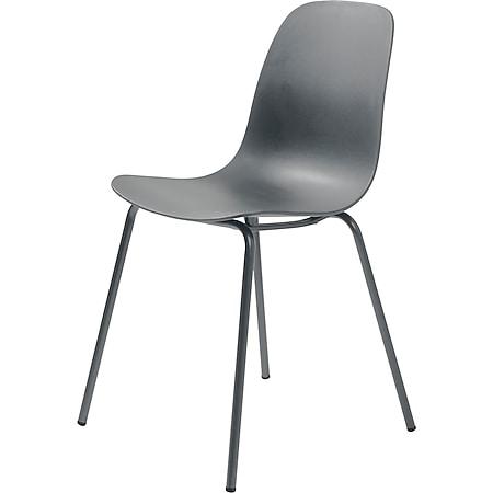 4x Esszimmerstuhl Whims grau Küchenstuhl Küche Eszimmer Stuhl Set Stühle - Bild 1