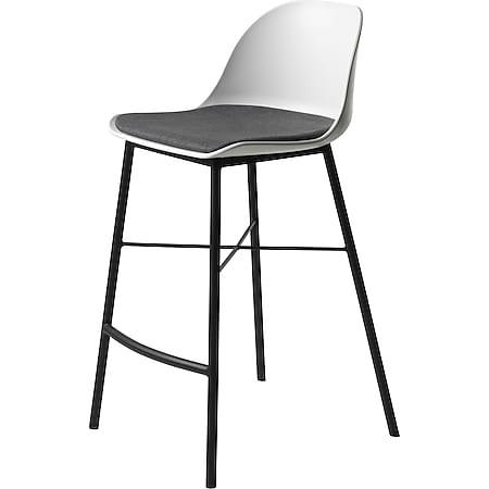 Barhocker Whise Barstuhl Tresenhocker Hocker Küchenhocker Stuhl weiss grau - Bild 1