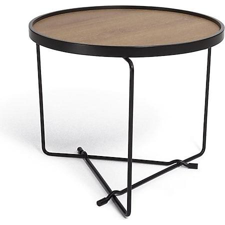 Couchtisch Maki braun Sofa Wohnzimmer Tisch Ablage Beistelltisch Holz Eiche - Bild 1