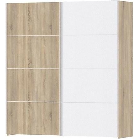 Kleiderschrank Veto 2 Türen Schrank Drehtürenschrank Eiche Struktur Dekor weiss - Bild 1
