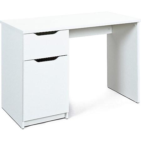 Schreibtisch Wung weiss Tisch Bürotisch PC Computertisch Computer Büro - Bild 1