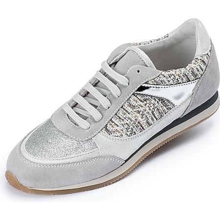 Damen Casual Sneaker Freizeitschuhe  - grau/silber - Bild 1