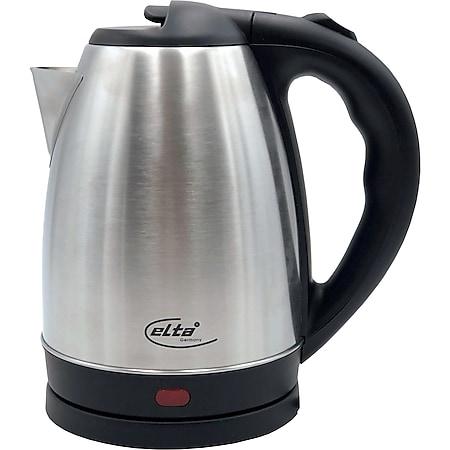Elta Edelstahl Wasserkocher 1,8L Teekocher Wasser Tee Wasserkessel 1800W - Bild 1