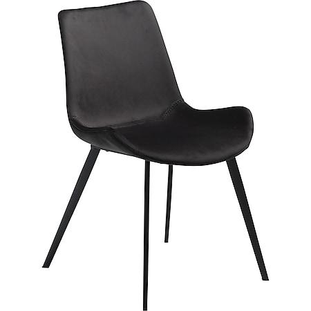 2x Design Esszimmerstuhl Velours Küche Stuhl Stühle Set Esszimmer schwarz - Bild 1