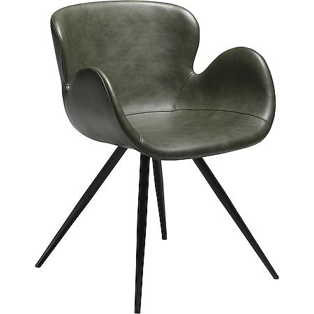 2x Esszimmerstuhl Kunstleder Küchenstuhl Stuhl Stühle Set Esszimmer Küche grün - Bild 1