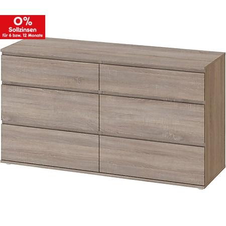 Kommode Nora Sideboard Schubladenschrank Highboard Schlafzimmer Schrank trüffel - Bild 1
