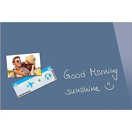 Be!Board B1207 Glas Magnettafel blau 60 x 40 cm Magnetboard Tafel Whiteboard - Bild 1