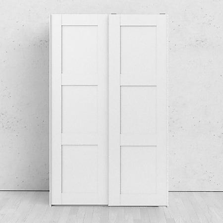 Kleiderschrank Veto weiss 2 Türen Schiebetürenschrank Schlafzimmer Schrank - Bild 1