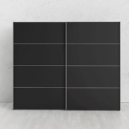 Kleiderschrank Veto 2 trg schwarz matt Schlafzimmer Schrank Schiebetürenschrank - Bild 1