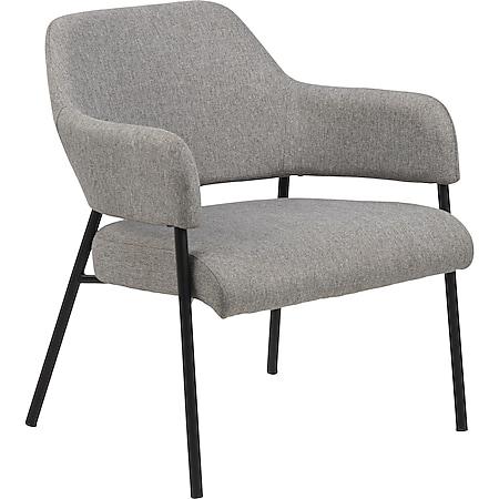 Lisa Sessel grau Esszimmer Stuhl Wohnzimmer Clubsessel Cocktailsessel Lounge - Bild 1